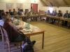 Dánští učitelé na semináři na půdě bývalých Magdeburských kasáren, Památník Terezín/ Danish teachers at the attic of the former Magdeburg Barracks, Terezin Memorial