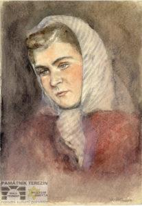 Charlotta Burešová: Portrait of Hana Kellnerová, 1942-1945, Památník Terezín, PT 5525, © MUDr. Radim Bureš.