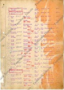 Eva came to Terezín in a transport codenamed Bf under the number 11, Terezin Memorial, APT 7394.