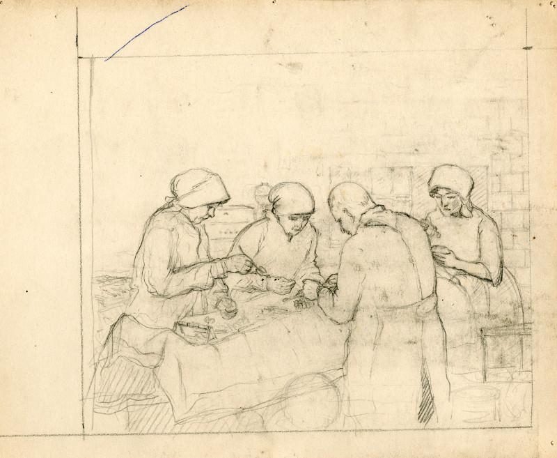 Karel Vik: Dr. Levit's Surgery, PT 9177, Terezín Memorial, ©Milena Jeřábková, Jiřina Komárková