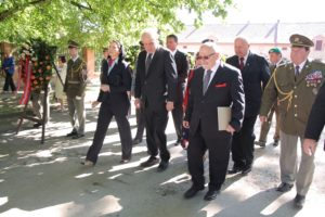 The President of the Czech Republic Miloš Zeman and director of the Terezin Memorial Jan Munk, Terezin Commemoration 2013