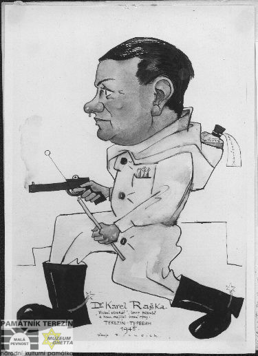 Caricature of F. Luksch: MD Karel Raška, FAPT 7627_7_1