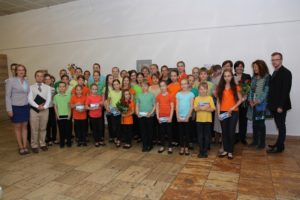 Children's Choir of Brno with Žanda Frýdová (second from the right), photo: Radim Nytl, Terezin Memorial