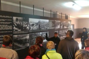 During guided-tour in the State museum Auschwitz-Birkenau, October 2015, photo: Jaroslava Tihlařiková