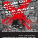 Plakát k výstavě Vykonavatelé zločinů, autor: Miroslav Veselý