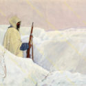Theodor Lindner, 1917. Rakousko-uherský voják vzimním maskovacím plášti na stráži vprostoru hory Monte Zebio, PT 4908.