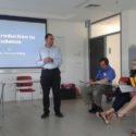 Přednáška o judaismu Jeshaya Baloga, seminář v Yad Vashem, foto: N. Seifertová