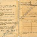 Pracovní průkaz vězně ghetta Lea Kolínského, APT 7000_2