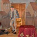 Představení  Pan Theodor Mundstorck Jaroslava Achaba Heidlera, půda bývalých Magdeburských kasáren v Terezíně, listopad 2014, foto: P. Straka