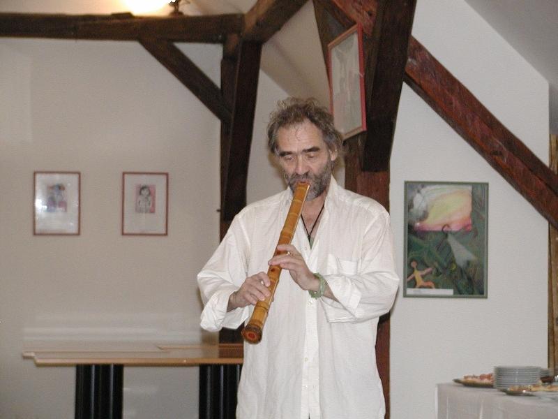 V. Matoušek při vernisáži v Lounech, Foto: Dana Studničková, Lounský Press