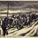 Otto Matoušek, 1938. Ústup zUkrajiny (z cyklu Bachmač), PT 14045, © Luisa Matoušková, Otta Matoušek.