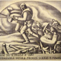 Otto Matoušek, 1927. Boj (z cyklu Zborov), PT 14052, © Luisa Matoušková, Otta Matoušek.