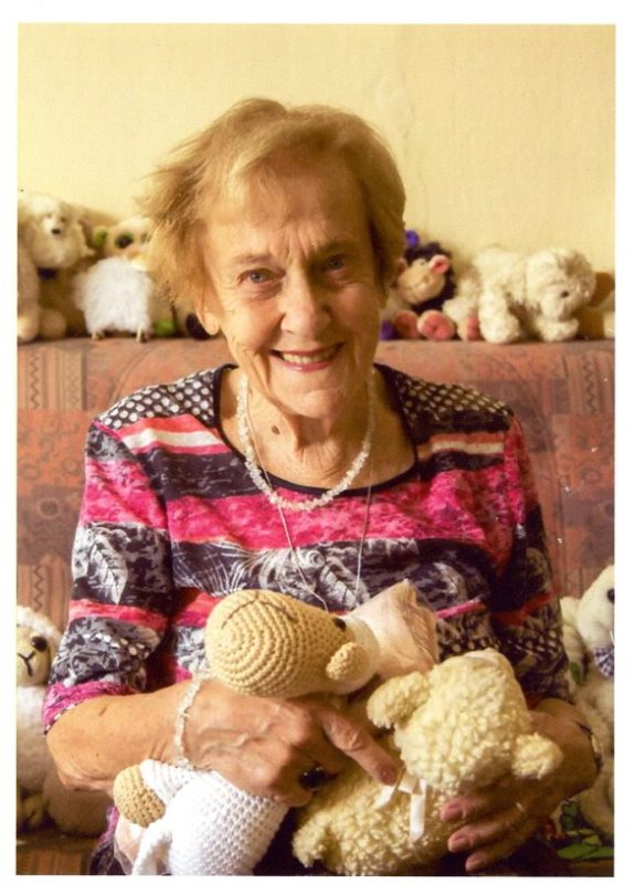 Doris at present with her own collection of sheep figurines, private archive of Doris Grozdanovičová.