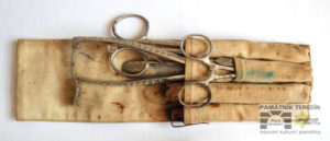 A set of surgical instruments from the Police Prison in the Small Fortress, probably the property of a surgeon-inmate, Terezin Memorial, PT 14139.