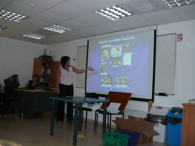 Presentation of the students' projects, seminar in Yad Vashem