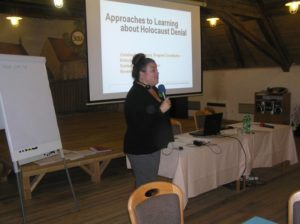 Christina Chavarria (USA) presents her workshop Approaches to Learning about Holocaust Denial, November 2016, photo: Pavel Straka, Památník Terezín.