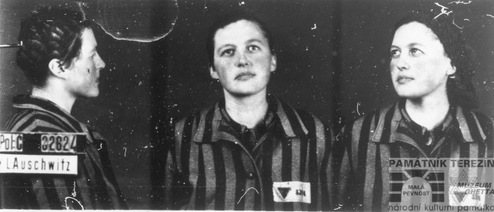 FA PT, 5340/3, photo of Zdenka Nedvědová-Nejedlá made upon her arrival to Auschwitz-Birkenau, 1943.
