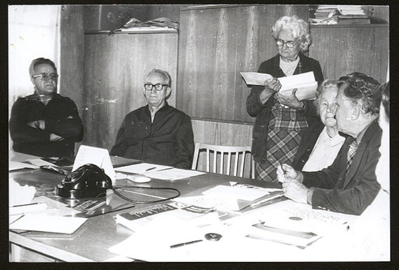 A meeting with former inmates in Rakovník and recording of thein recollections, October 1983