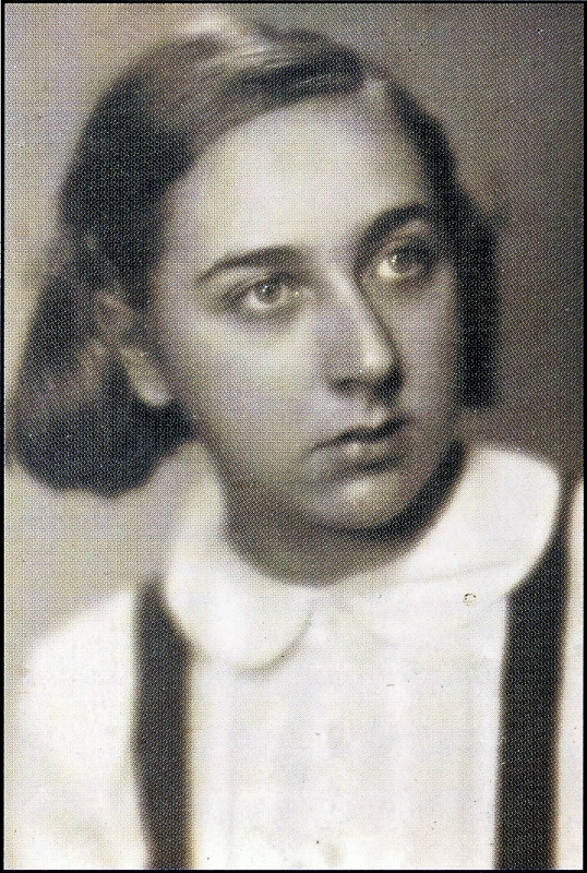 Helga Hošková in December 1941, 3 days before she was deported to Terezin, in: Catalogue to  the exhibition in the Ghetto Museum, Terezin Memorial, 1993