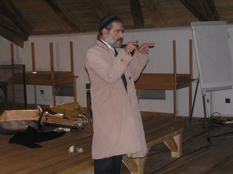 J. A. Haidler during the performance, photo: Pavel Straka