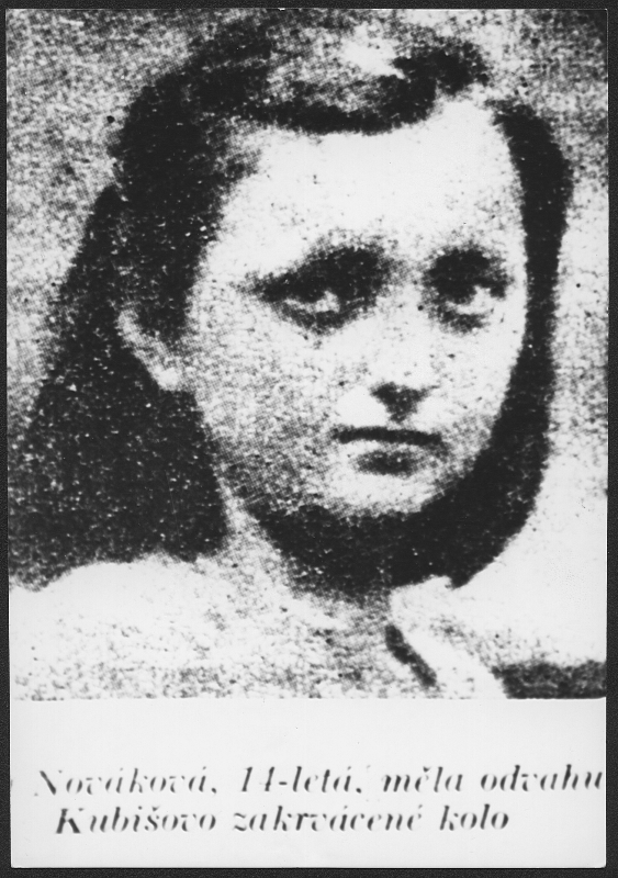 14-year-old Jindřiška Nováková, who took the Kubiš bicycle after the assassination of R. Heydrich