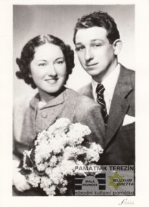 A wedding photo of Věra and Jindřich Jetel. Private archive of Ludmila Chládková.