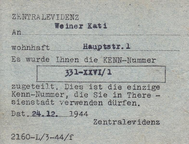 Potvrzení - Weiner Kati